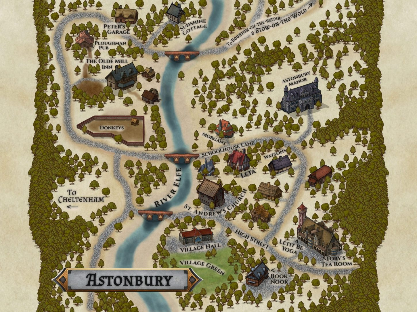 Map of Astonbury